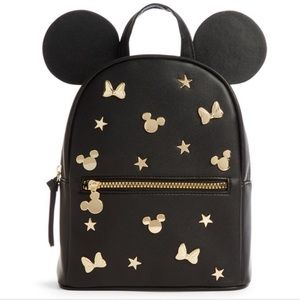 HOST PICK Disney Mickey Minnie Mouse Gold Backpack